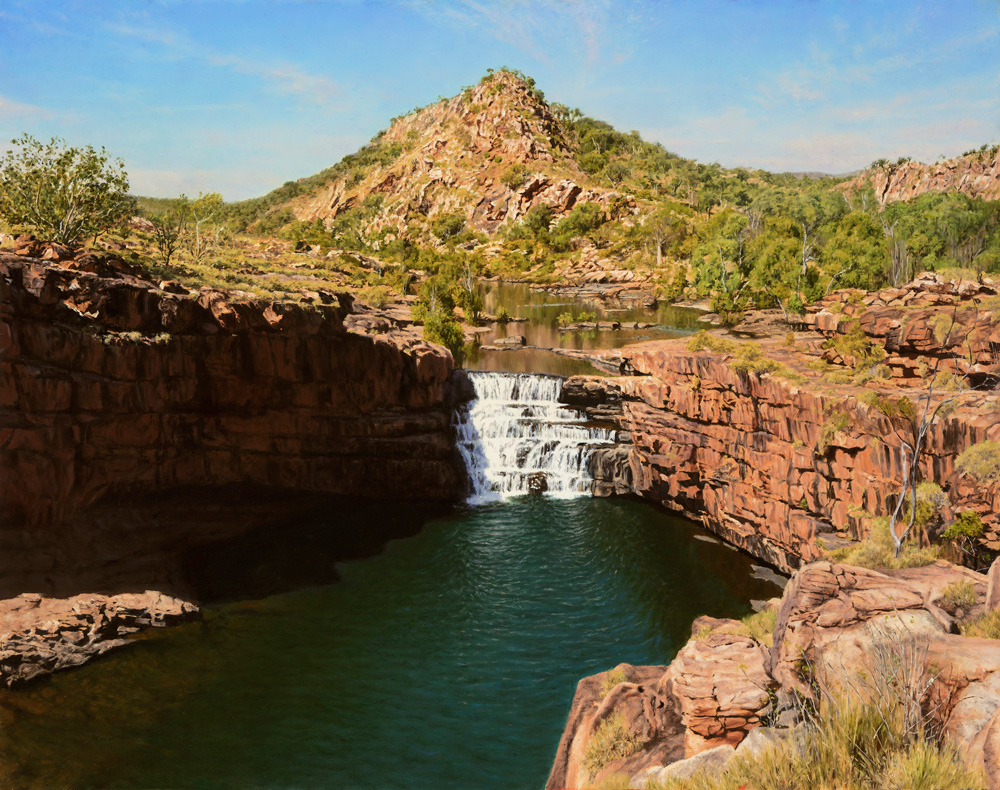 Bell Gorge - West Kimberley | Oil on gessoed panel, 780mm x 620mm