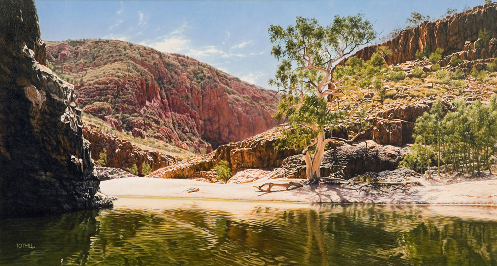 Ormiston Gorge - West MacDonnell Ranges NT | Oil on linen, 1500mm x 1000mm