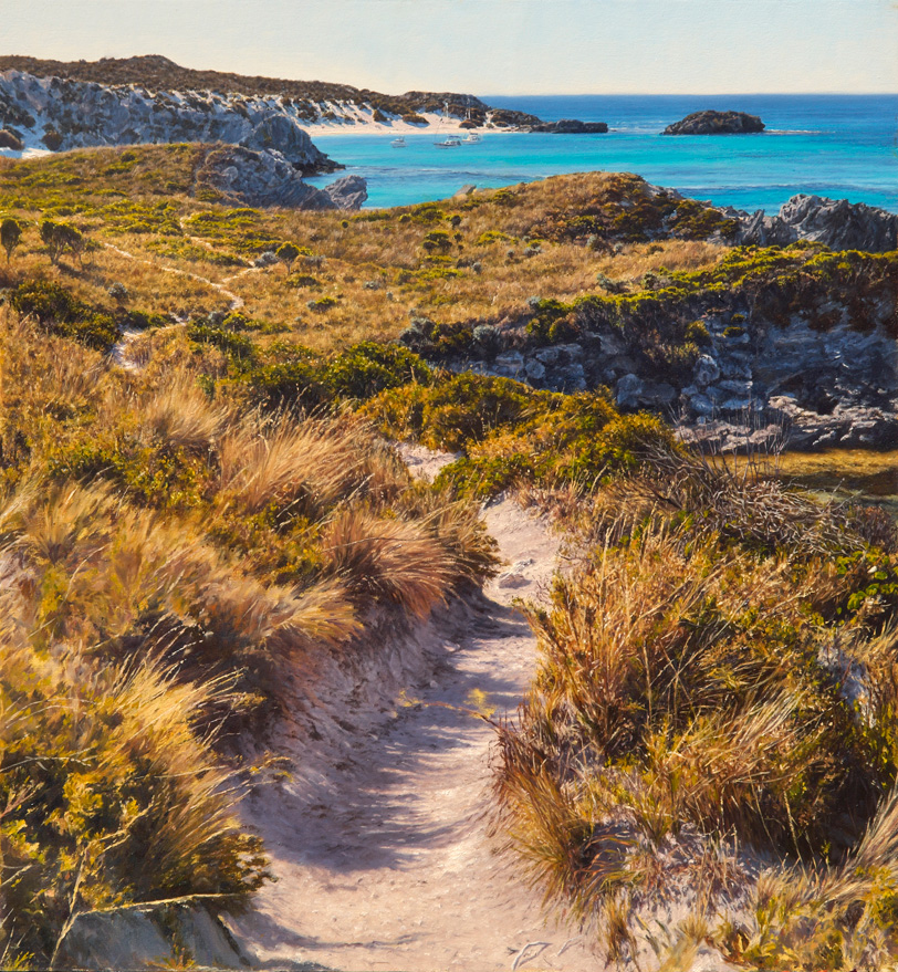 Path to Little Parakeet Bay - Rottnest Island WA | Oil on linen, 590mm x 640mm