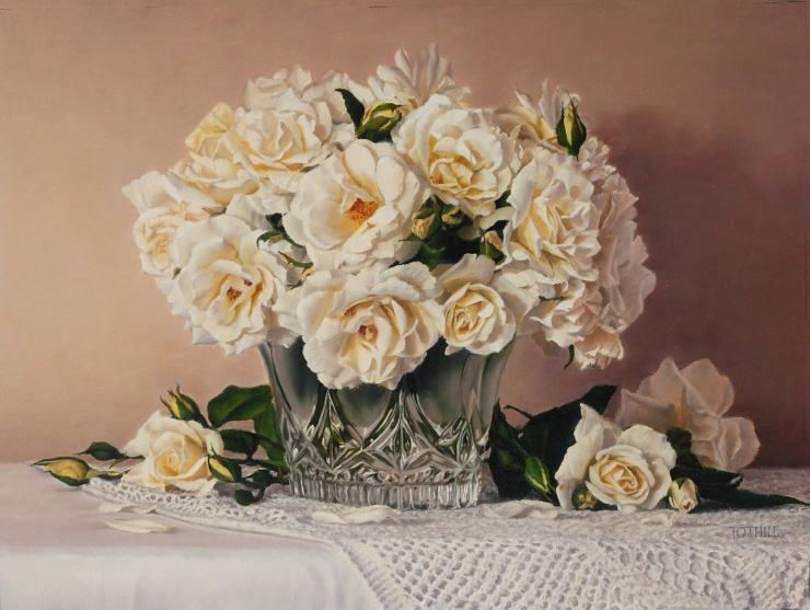 Shades of White | Oil on linen, 470mm x 350mm
