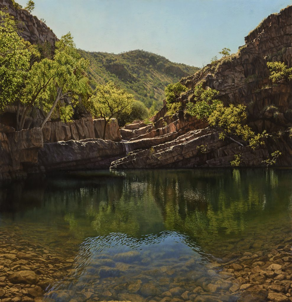 The Resting Place - Amalia Gorge, El Questro Station, Kimberley WA | Oil on gessoed panel, 900mm x 930mm